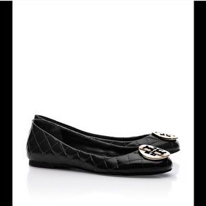 NWOT Tory Burch Quinn Quilted Leather Ballet Flats